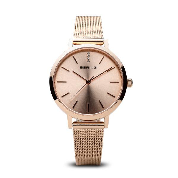 Bering Rose Gold Analogue Women's Watch – 13434-366