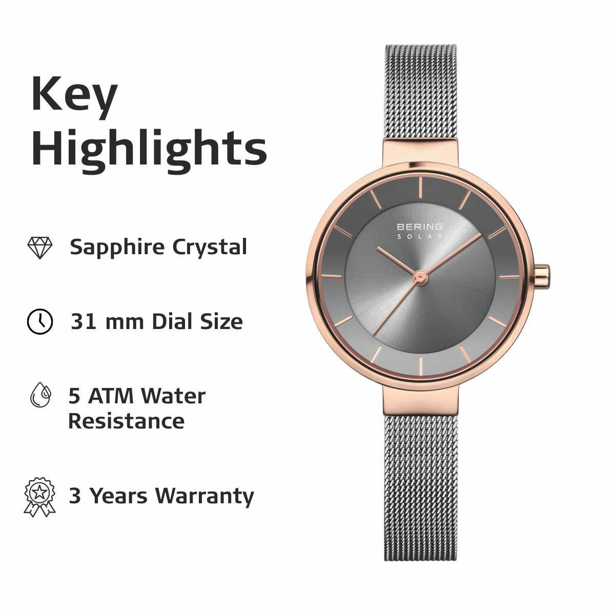 Bering Grey Analogue Women's Watch – 14631-369