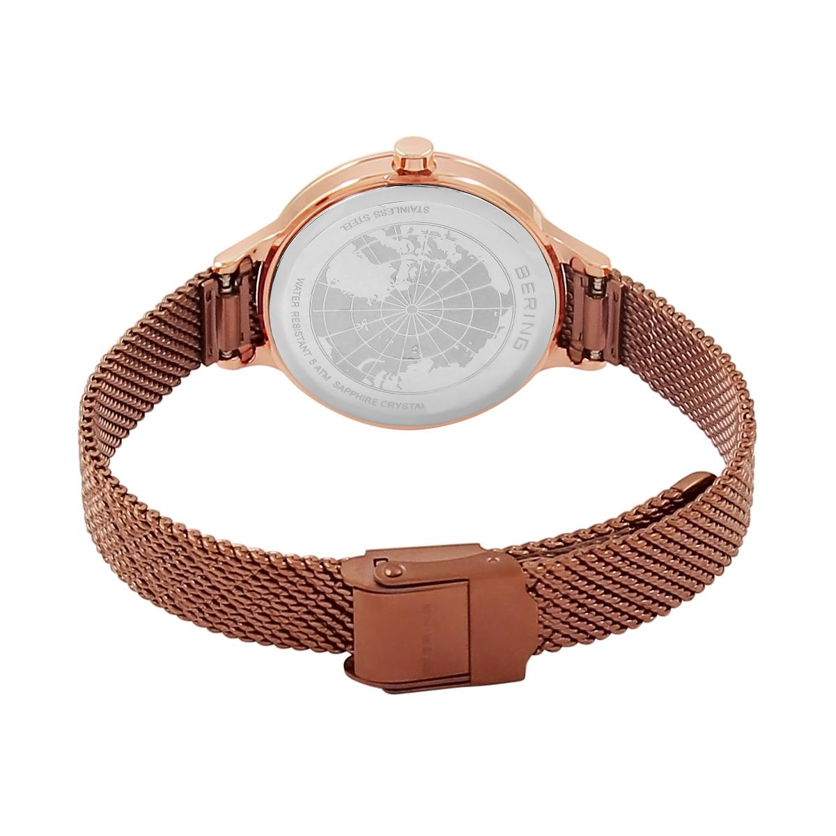 Bering Rose Gold Analogue Women's Watch 17831-265