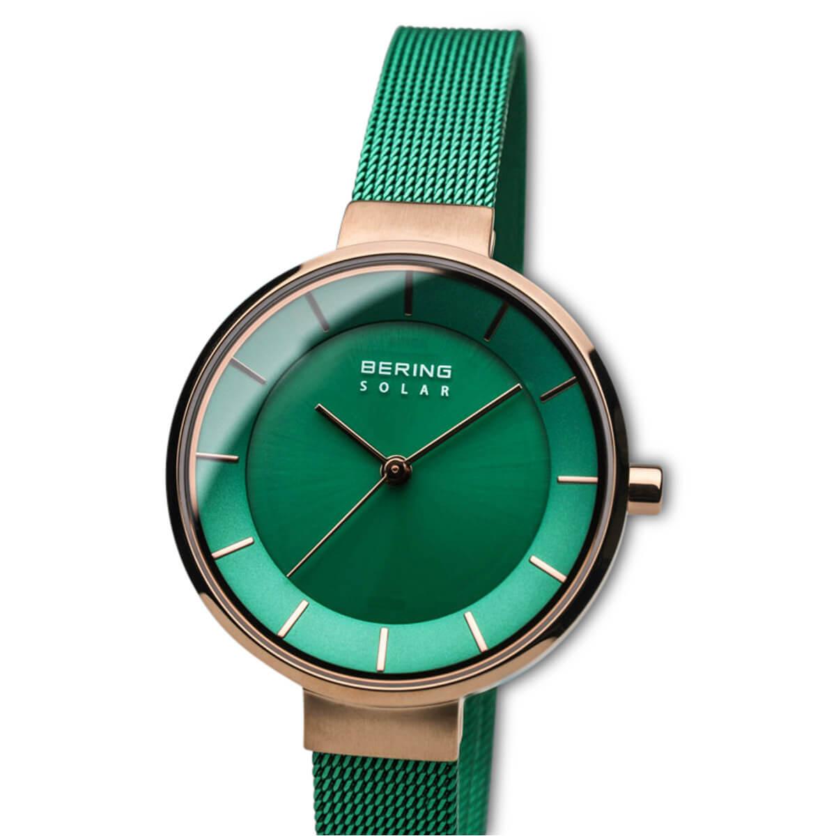 Bering Green Analogue Women's Watch – 14631-Charity