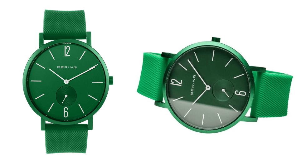 Bering-Green-Analogue-Men's-Watch-16940-899